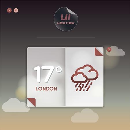 widget: Weather Widget Illustration, Signs, Slider Switch Buttons, Sign, Symbol, Emblem