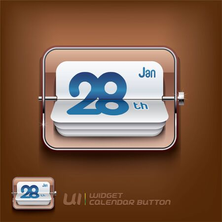 Calendar Symbol Illustration, Signs, Slider Switch Buttons, Sign, Symbol, Emblem  Vector