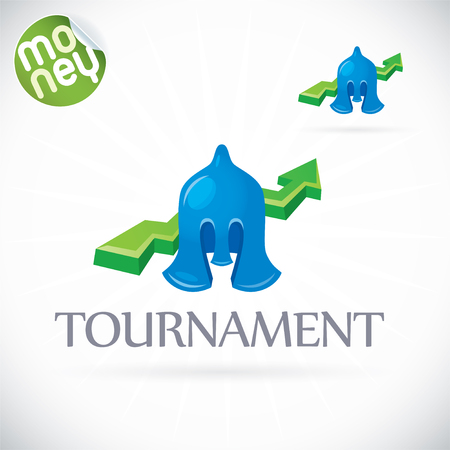 Finance Tournament Illustration, Sign, Symbol, Button, Badge, Icon