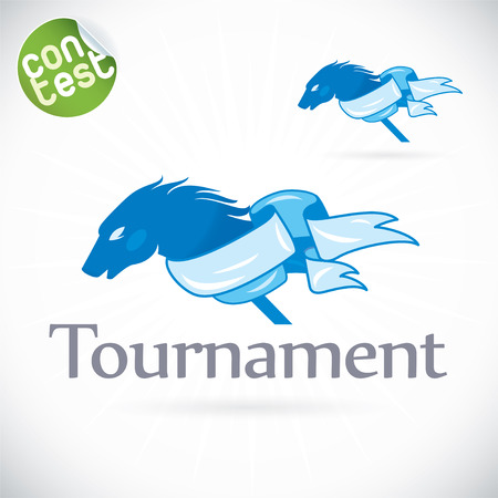 equestrian sport: Tournament Illustration, Sign, Symbol, Button, Badge, Icon