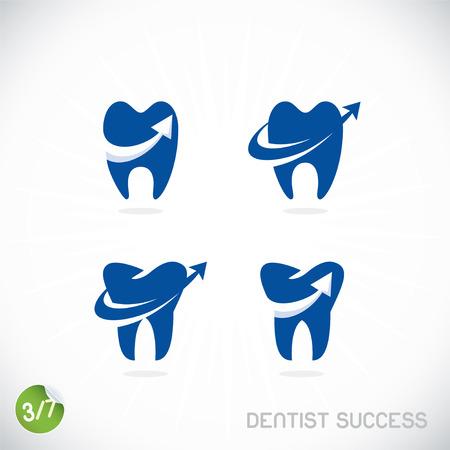 Dentist Symbols, Sign, Illustration, Button, Badge  Vector