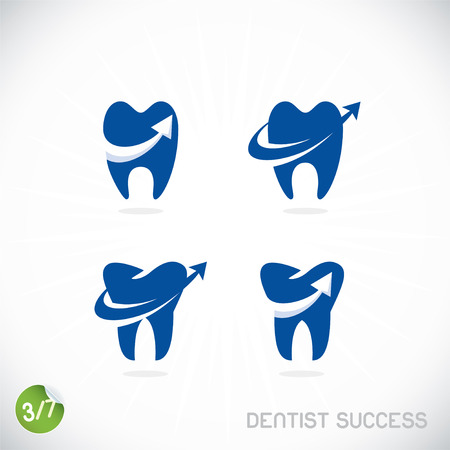 dent: Dentist Symbols, Sign, Illustration, Button, Badge
