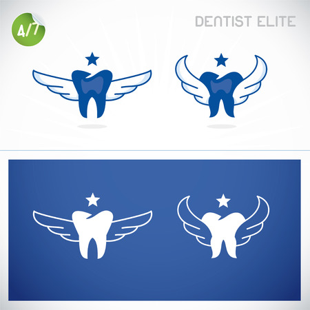 dental caries: Dentist Symbols, Sign, Illustration, Button, Badge