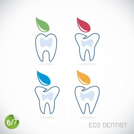 caries dental: Símbolos Dentista, muestra, ejemplo, Button Badge Vectores