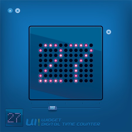 Digital Time Counter Illustration With Blue Background Vector