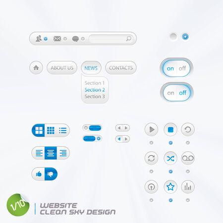 slider: Website Clean Sky Design With Sticker Illustration