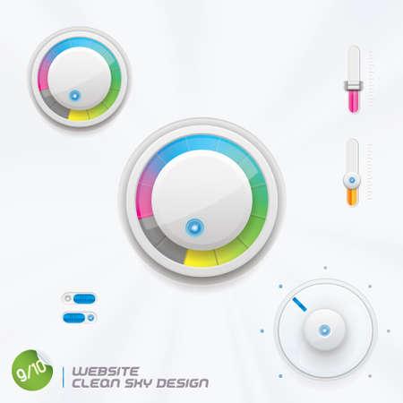 widget: Website Clean Sky Design With Sticker Illustration