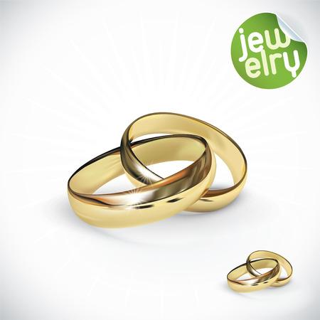 wedding rings: Vector Gold Rings Illustration Illustration