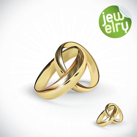 Vector Gold Rings Illustration Illustration