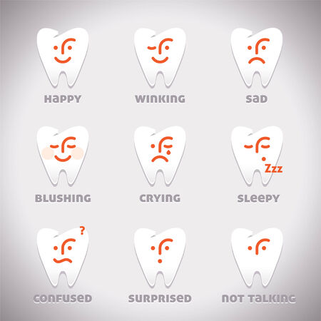 Vector Smiles Icons, Illustration, Sign, Symbol, Button Vector