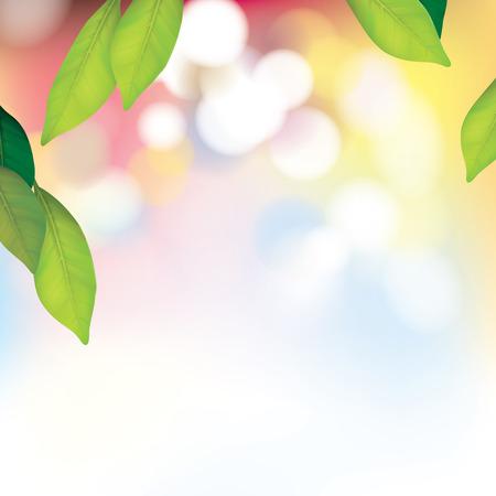 Vecteur beau fond Spa avec des feuilles