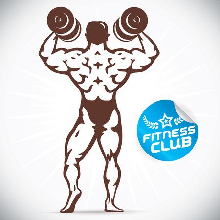 defined: Attractive Bodybuilder illustration Illustration