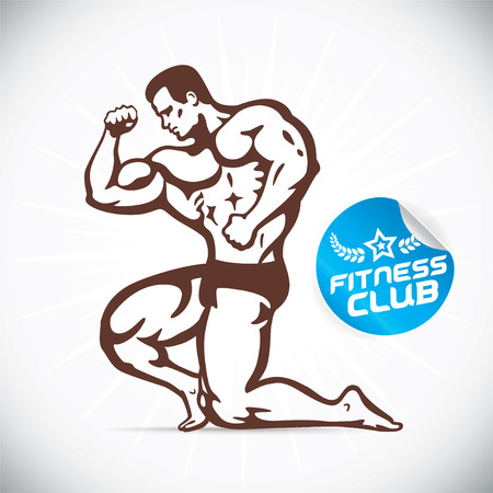 arms body: Attractive Bodybuilder illustration Illustration