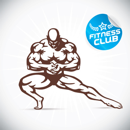 handsome man: Attractive Bodybuilder illustration Illustration
