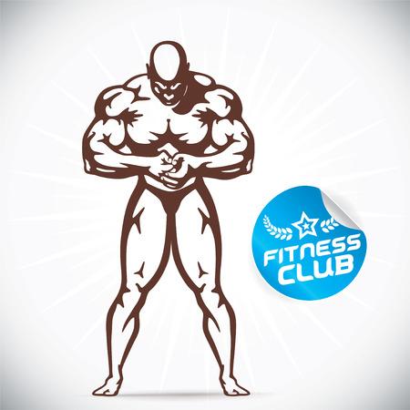 attractive: Attractive Bodybuilder illustration Illustration