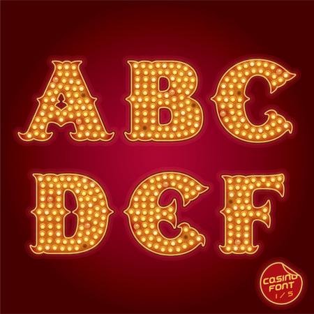 casino machine: Lamp Light Alphabet Illustration