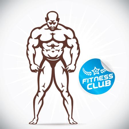 bodies: Attractive Bodybuilder illustration Illustration