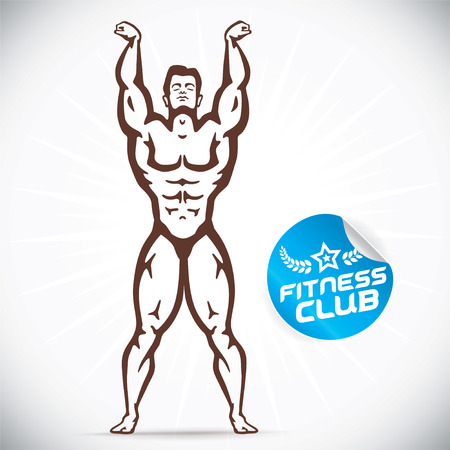 builder symbol: Attractive Bodybuilder illustration Illustration