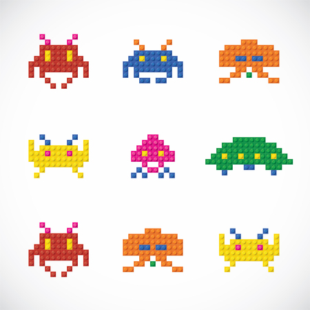 space invader: Unique Plastic Parts Character Toys