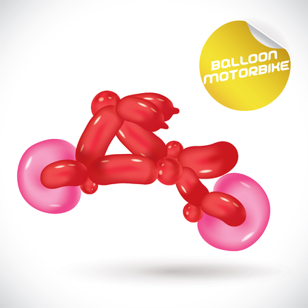 motorbike: Glossy Balloon Motorbike Illustration Illustration