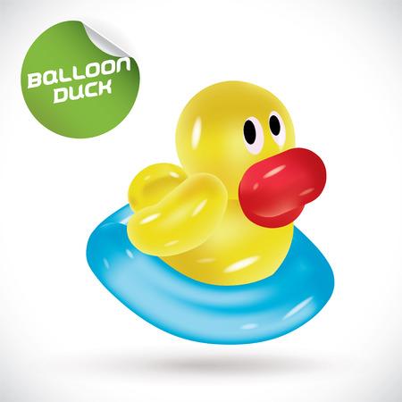 game icon: Glossy Balloon Duck Illustration