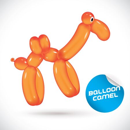 cartoon camel: Glossy Balloon Camel Illustration Illustration
