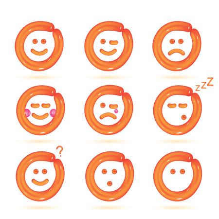 mood: Vector Balloon Smiles Icons Illustration