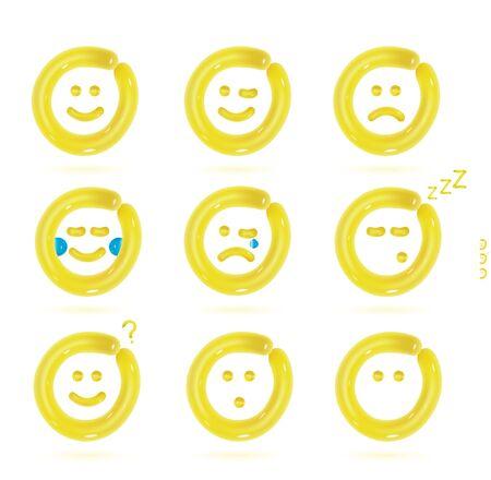 balloon vector: Vector Balloon Smiles Icons Illustration