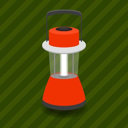 accumulator: portable lamp-lantern on a accumulator (battery)