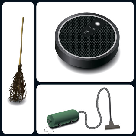 electric broom: Evolution of cleaning devices a broom, vacuum cleaner and robotic vacuum cleaner