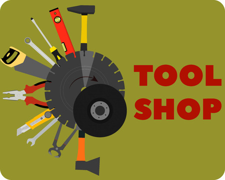 image tools for construction and repair. tool shop
