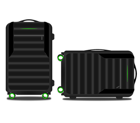 porter: suitcase with a tracking system and a green light
