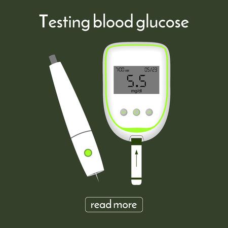 blood sugar: device for measuring blood sugar and a lancet. glucose meter