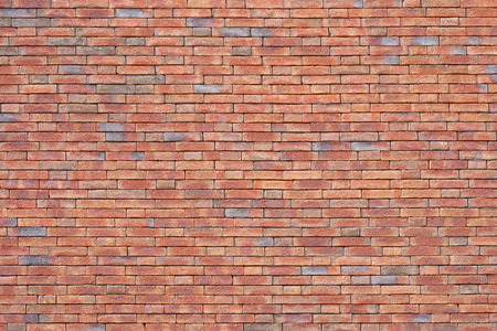New Red Brick wall for background or texture. New red brick wall texture background 版權商用圖片