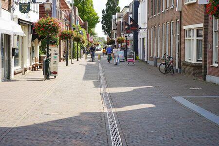 Zoetermeer. Street of old city. Dorpstraat. 30 August 2018. Zoetermeer. Netherlands.