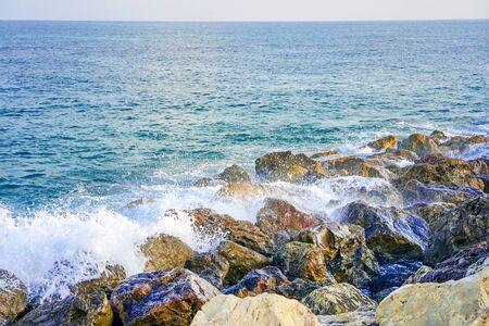 Sea horizon on a sunny day