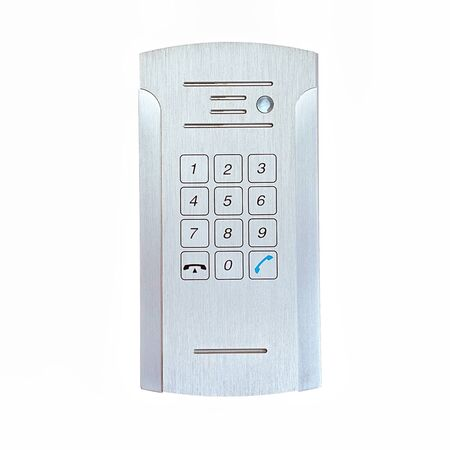 Secure password on keyboard for opening home house door isolated on white background. Password code Security keypad system protected in Public Building. The security code combination to unlock the door