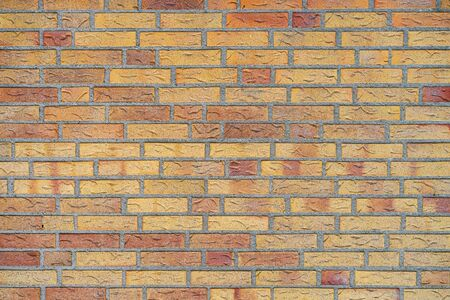 Red Brick wall for background or texture. Old yellow brick wall texture background