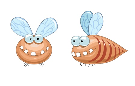 horrible brown fly with big teeth smiling Stock Vector - 16673021