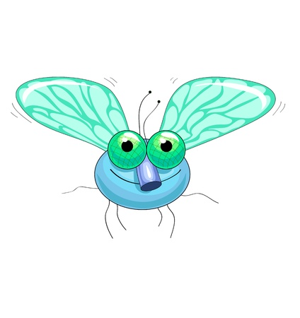 fly flying fun with big green eyes