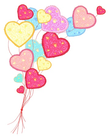 Background with hearts for Valentine Stock Vector - 17206607