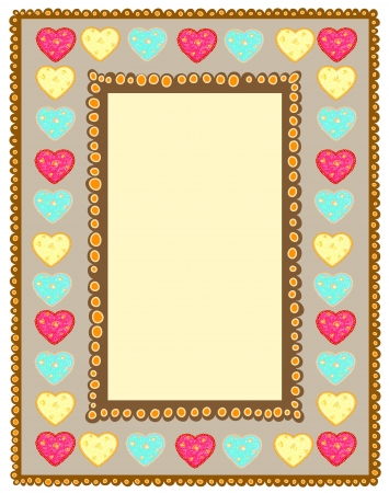 card with hearts Valentine Stock Vector - 17206604