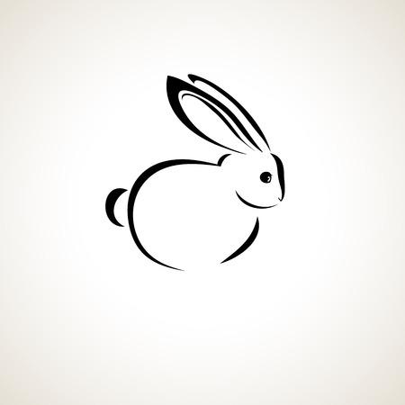 lapin silhouette: Carte de Pâques avec le lapin aperçu