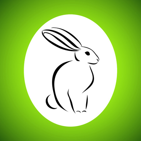 gnawer: Easter card with rabbit outline