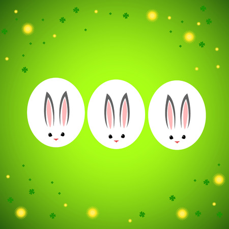Easter card with rabbit outline