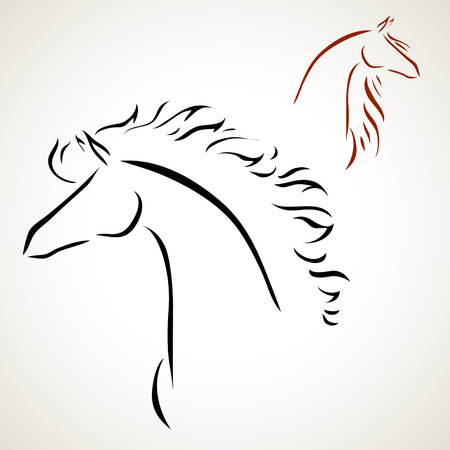 sketch: vector stylized figure of a horse
