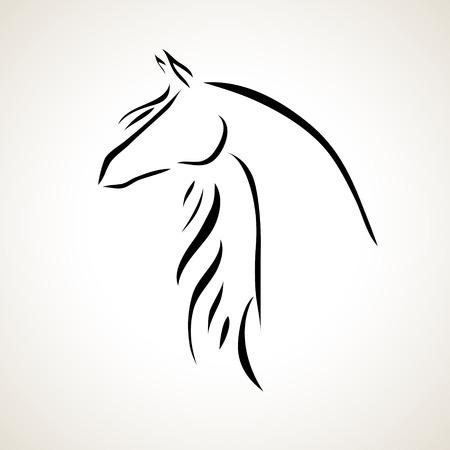 馬のベクトル様式化された図