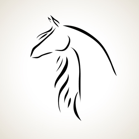 Vettoriale stilizzato figura di un cavallo Archivio Fotografico - 27140923