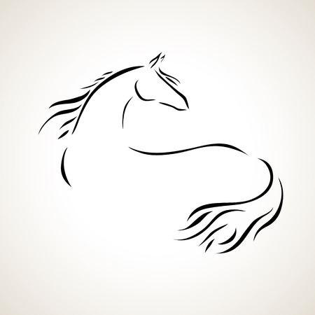 Horses: vector stylized figure of a horse