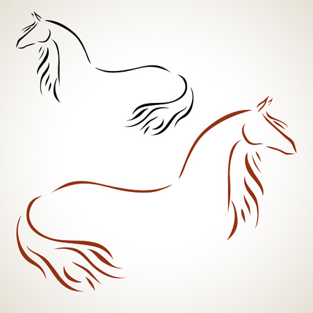 vector stylized figure of a horse Vector